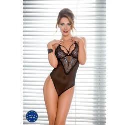 'Giorgia body' Sexy Body nero con ricami in pizzo, Casmir Lingerie