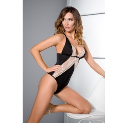 'Connie body' Sexy Body nero con ricami in pizzo, Casmir Lingerie