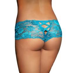 Sexy Culotte azzurre in pizzo con stringatura posteriore