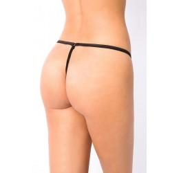 Sexy Perizoma nero con zip anteriore taglia unica