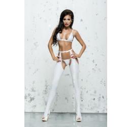 Sexy Completino bianco lucido 3 pezzi 'Eliane'  da Me Seduce