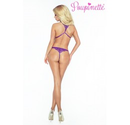 Stupendo Body viola in pizzo e stringhe PO6006 Provocative Lingerie