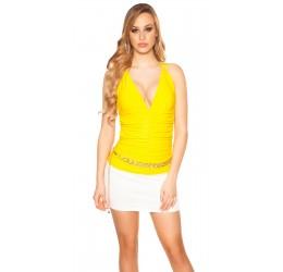 Sexy top giallo con inserto...