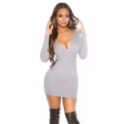 Mini abito grigio scollato...