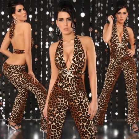 Sexy Tuta Leopardata