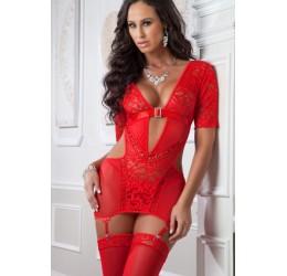 Sexy Mini abito rosso con...