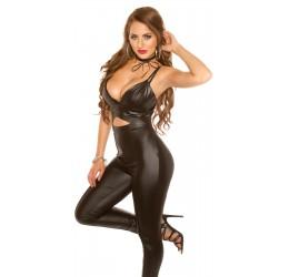 Sexy Tuta nera lucida.