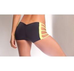 Sexy shorts neri lucidi con...
