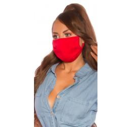 Mascherina rossa protettiva...