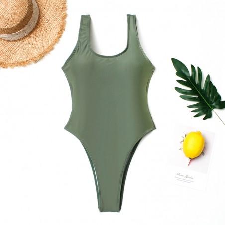 Sexy Costume da bagno intero verde