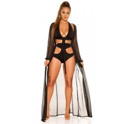 Copricostume nero, Abbigliamento donna, Moda mare
