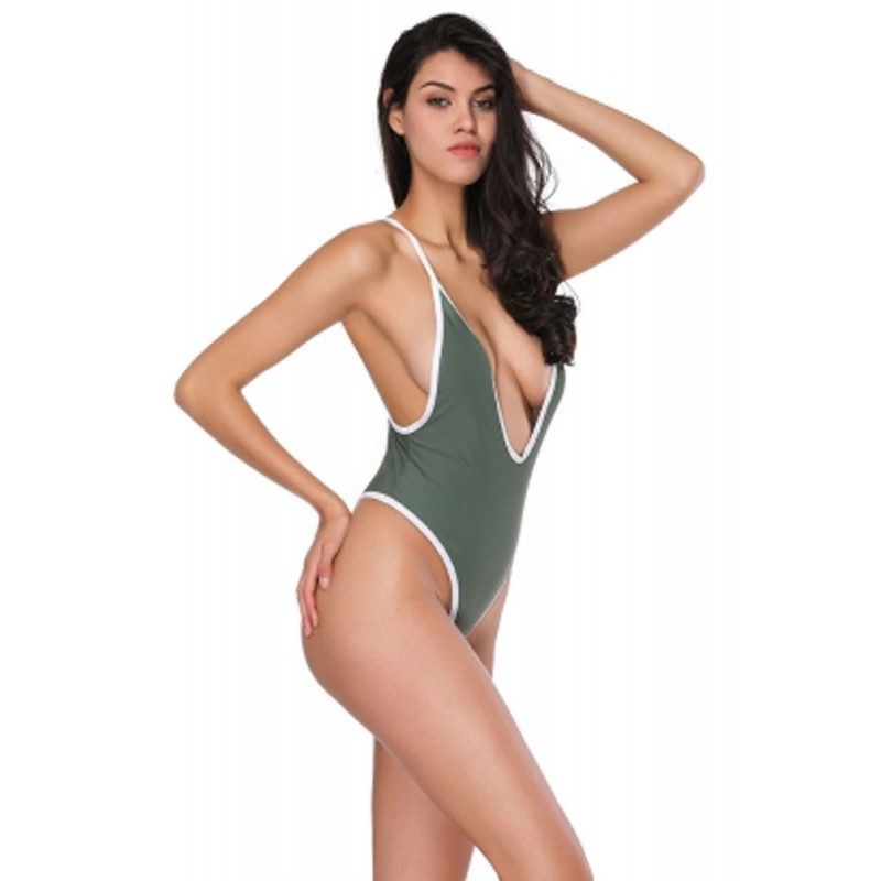 Sexy Costume intero verde donna