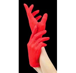Sexy guanti corti in rete...