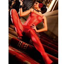Sexy Bodystocking rossa con...