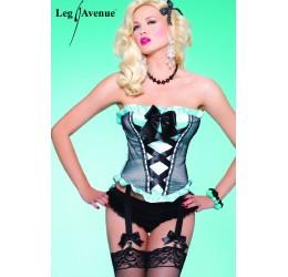 Sexy Corsetto con Reggicalze Burlesque