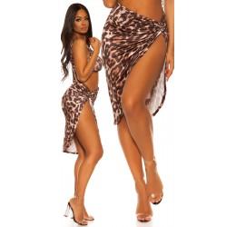 Sexy pareo leopardato in lycra