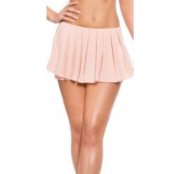 Shorts rosa con zip...