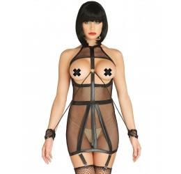 Sexy mini abito in rete bondage