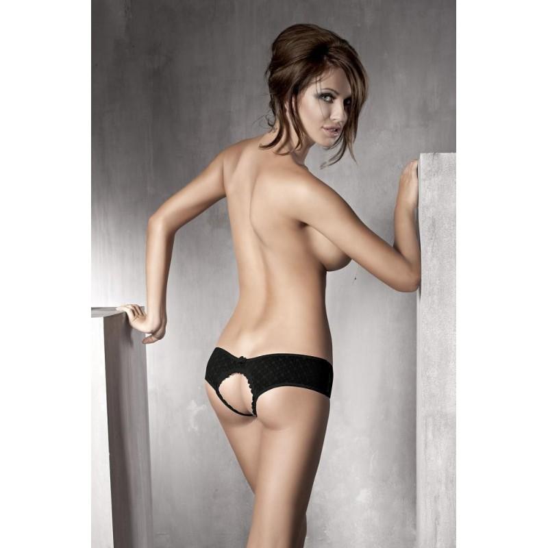 Sexy slip aperto nero con fiocchetti 'Kitten' Anais Lingerie