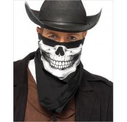 Bandana Nera con scheletro bianco LA2141