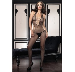 Sexy bodystocking nera in rete con catenelle  LA89053 da Leg Avenue