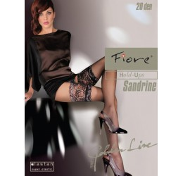 Calze Autoreggenti 'Sandrine' 20 DEN Fiore Hosiery