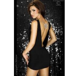 Mini abito nero da sera con gioiello e parure da Chilirose