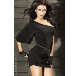 Sexy Mini abito nero monospalla asimettrico da Chilirose