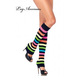 Scaldamuscoli a righe multicolor Leg Avenue LA-3931