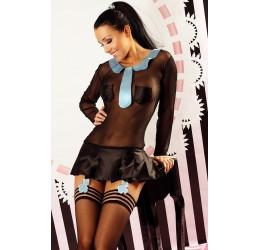 'Candy Girl' Costume da scolaretta nero/azzurro Lolitta Lingerie