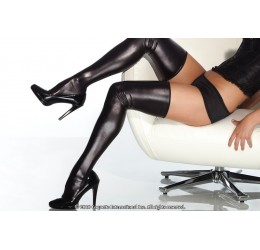 Sexy Calze autoreggenti nere lucide effetto bagnato da Coquette
