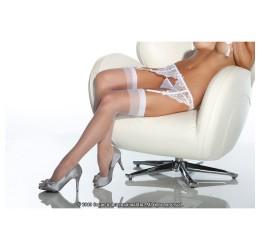 Sexy Calze velate bianche per reggicalze da Coquette
