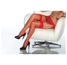 Sexy Calze velate rosse per reggicalze da Coquette