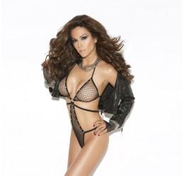 Sexy Body intimo nero in rete con strass da Elegant Moments