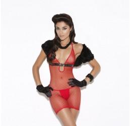 Sexy mini abito rosso in rete tg. 38/44 da Elegant Moments