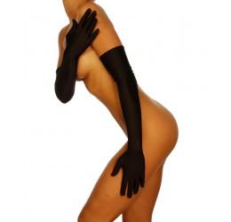 Sexy guanti lunghi in raso