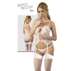 Completino con calze bianco, sexy e provocante da Mandy Mystery