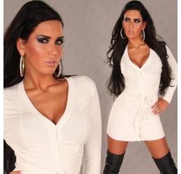 Cardigan bianco con cintura taglia unica 40/44