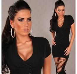 Pullover lungo/mini abito nero con maniche corte tg. unica 40/44