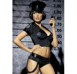 'Police Set' Costume da Poliziotta 6 pezzi Obsessive