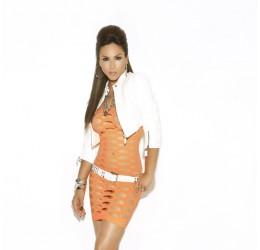 Sexy mini abito tubino arancione tg. 38/44 da Elegant Moments