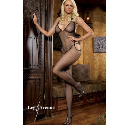 Leg Avenue bodystocking in rete con aperture