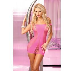 Sexy Mini abito in rete rosa fuchsia Pink Lipstick Lingerie
