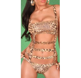 Sexy Monokini costume da bagno donna leopardato