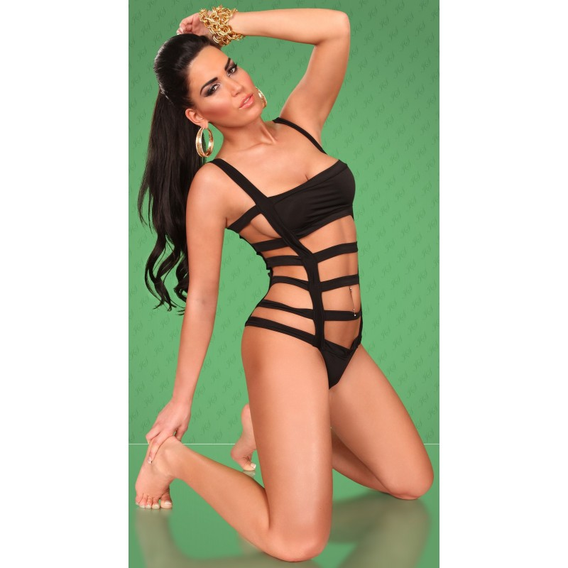 Sexy Monokini costume da bagno donna nero