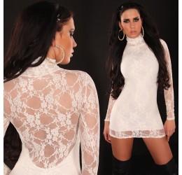 Sexy abito corto bianco con pizzo tg. 40/44
