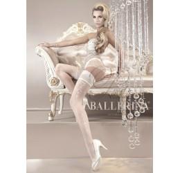 Autoreggente bianca con balza siliconata 20 denari Ballerina Collection