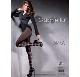 Collant neri con motivo scozzese 'Arika' Gabriella Calze e Collant