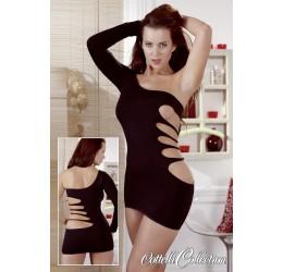 Sexy Mini abito nero monospalla 'Cottelli Collection'