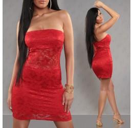 Sexy mini abito tubino rosso rivestito in pizzo tg. 38/42
